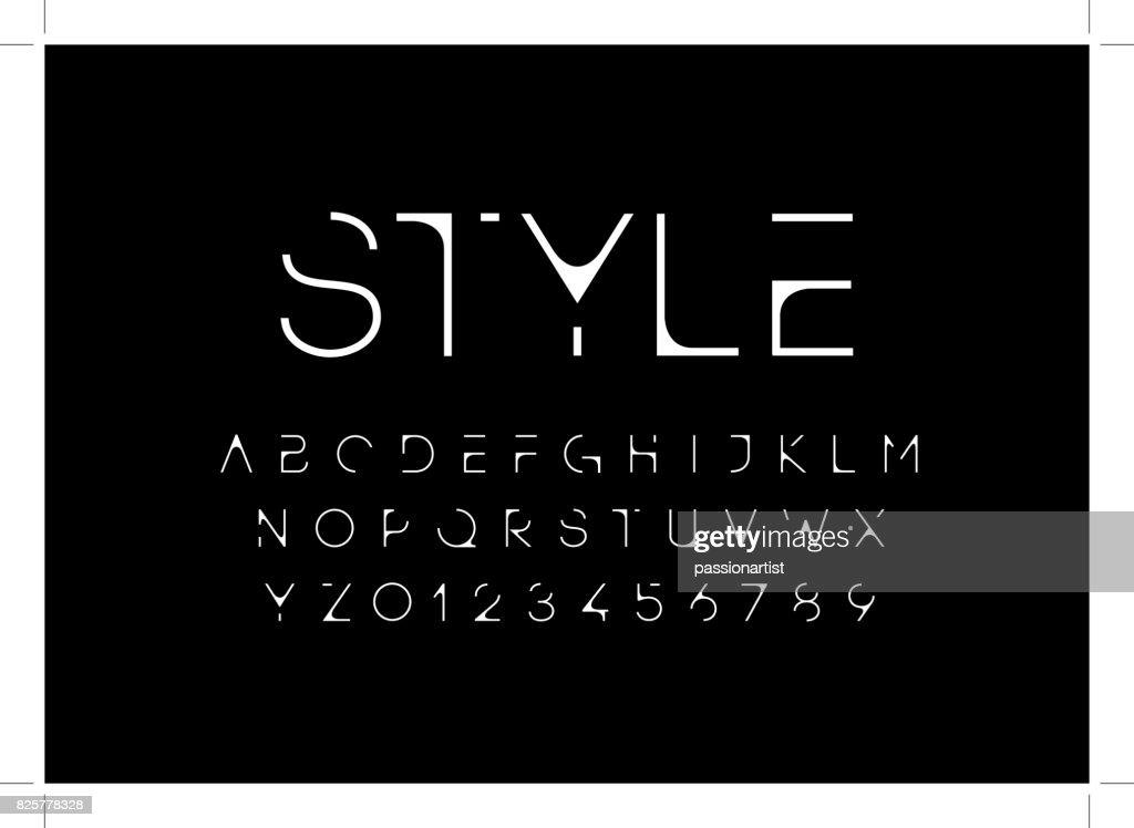Futuristic alphabet