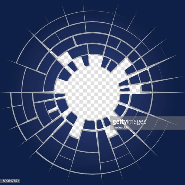 未来的な背景 - ひびが入った点のイラスト素材/クリップアート素材/マンガ素材/アイコン素材