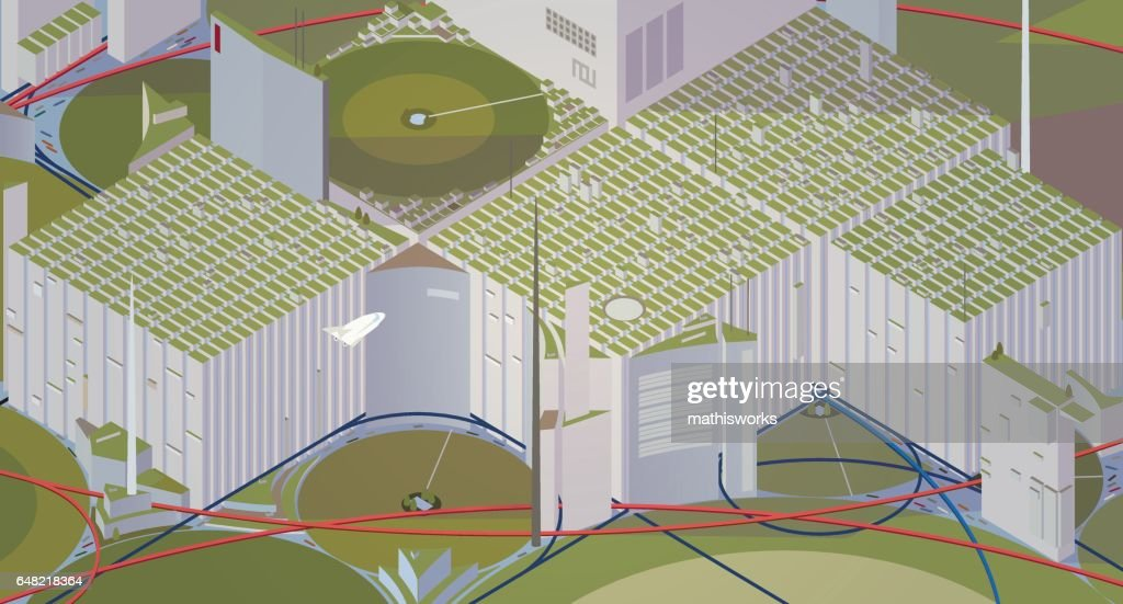 Futuristic city : Vector Art