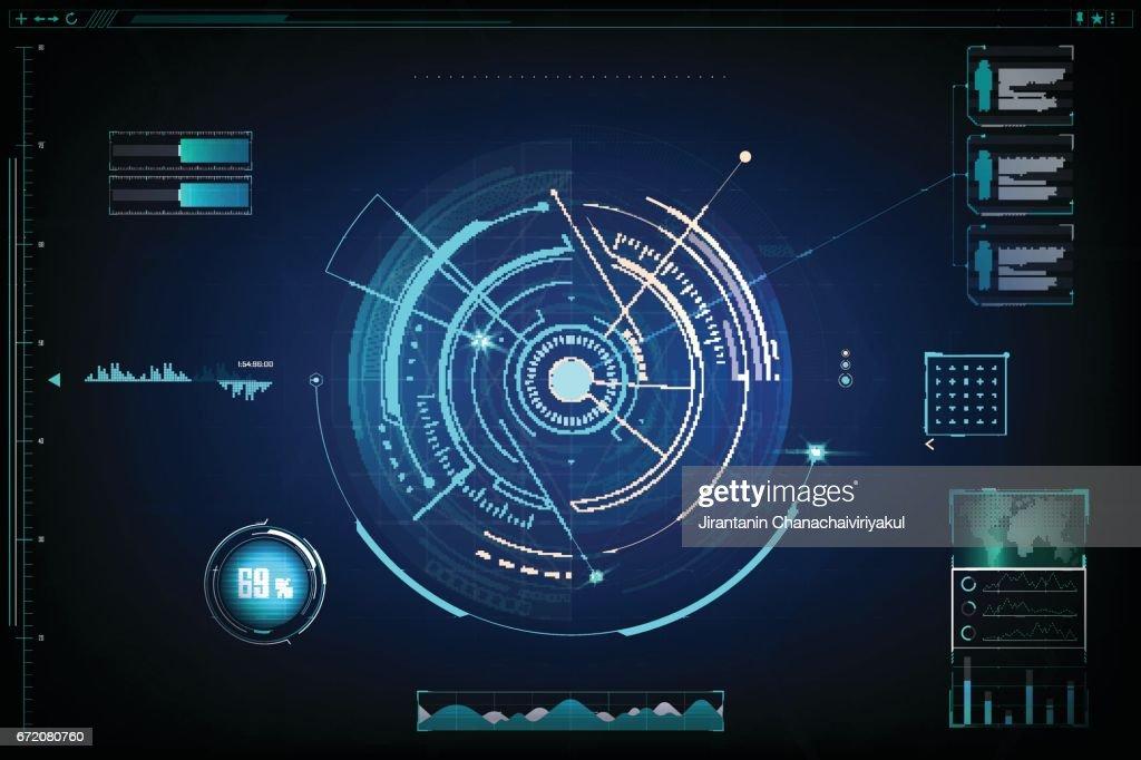 futuristic. design of  futuristic sci fi interface and background