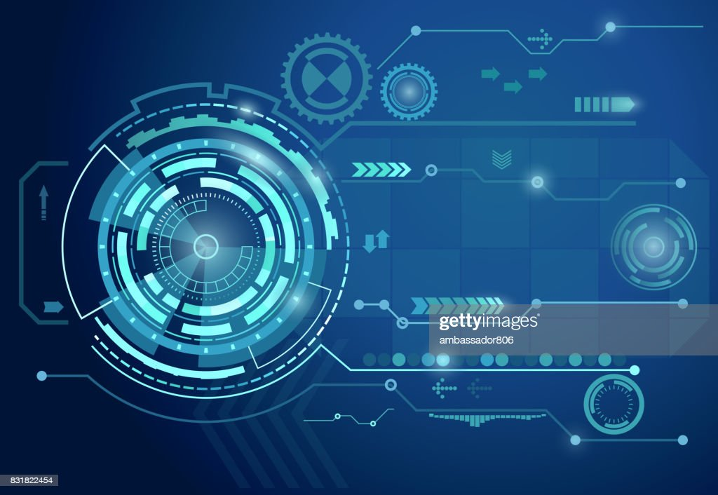 Futuristic digital business background. vector