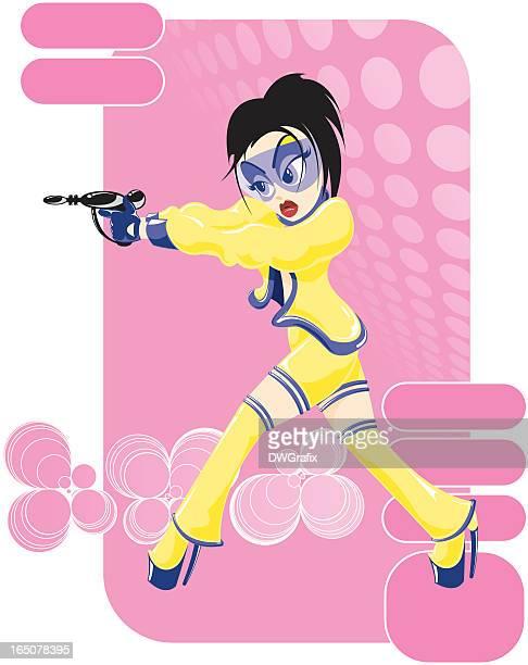 illustrations, cliparts, dessins animés et icônes de le futur de la mode de space girl - gogo danseuse