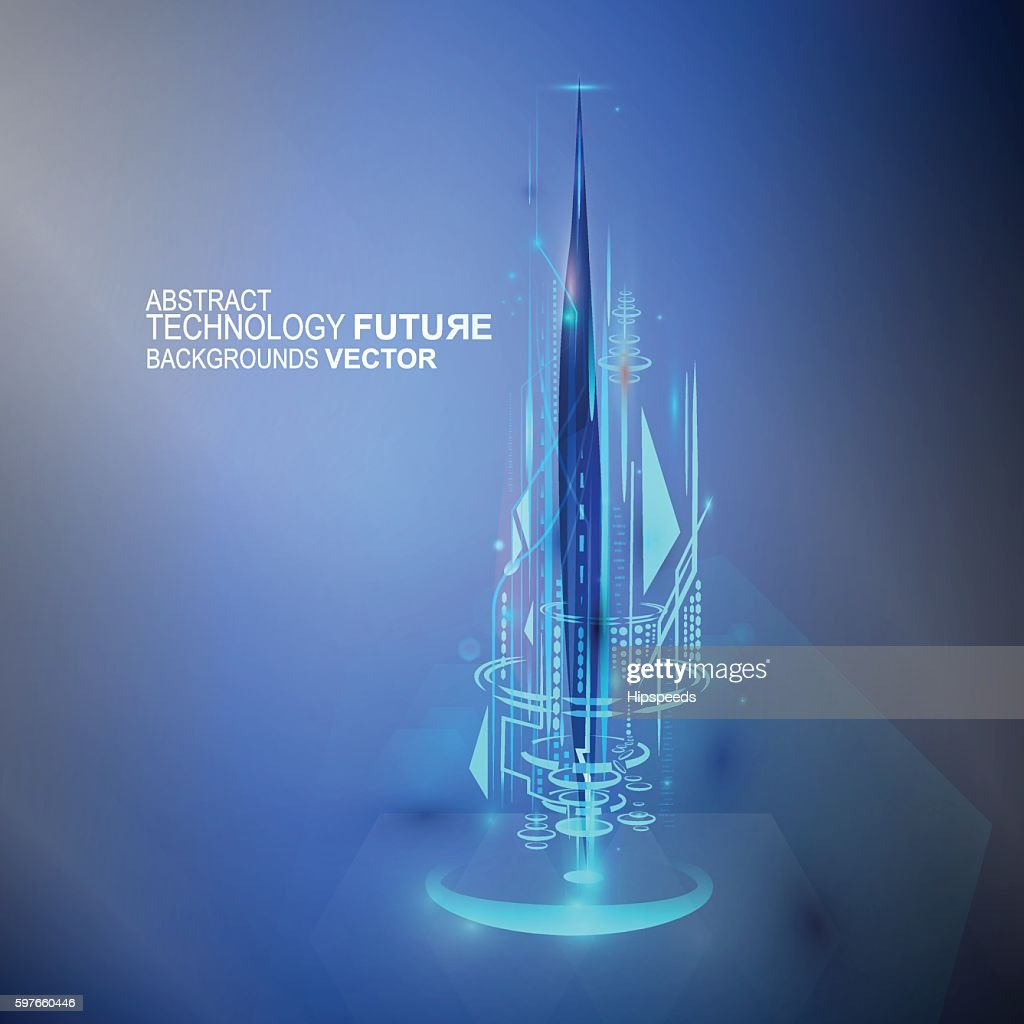 futuristic future technology abstract background vector