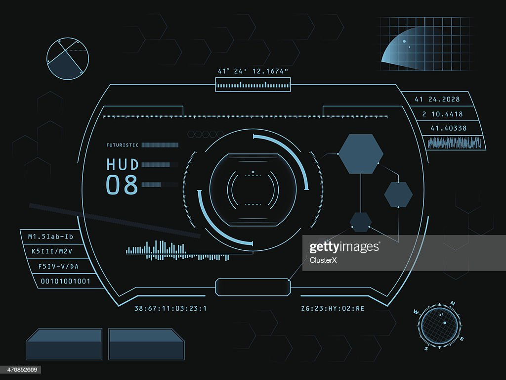 Futuristic graphic user interface