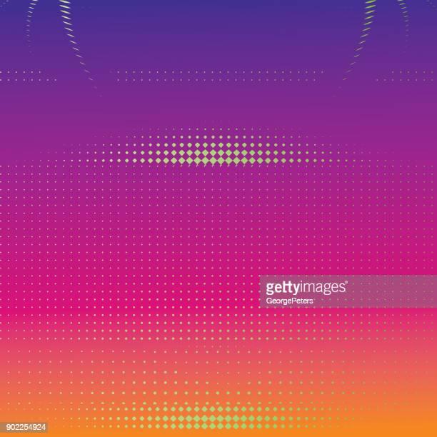 futuristische halbton muster hintergrund mit text-box und kopie raum - teil einer serie stock-grafiken, -clipart, -cartoons und -symbole