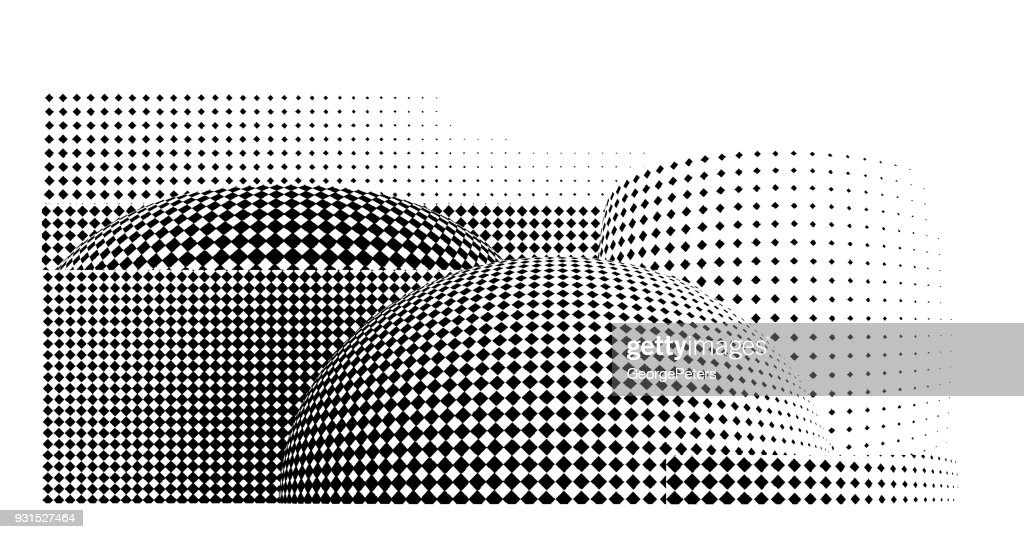 Futuristic halftone pattern that suggests architecture