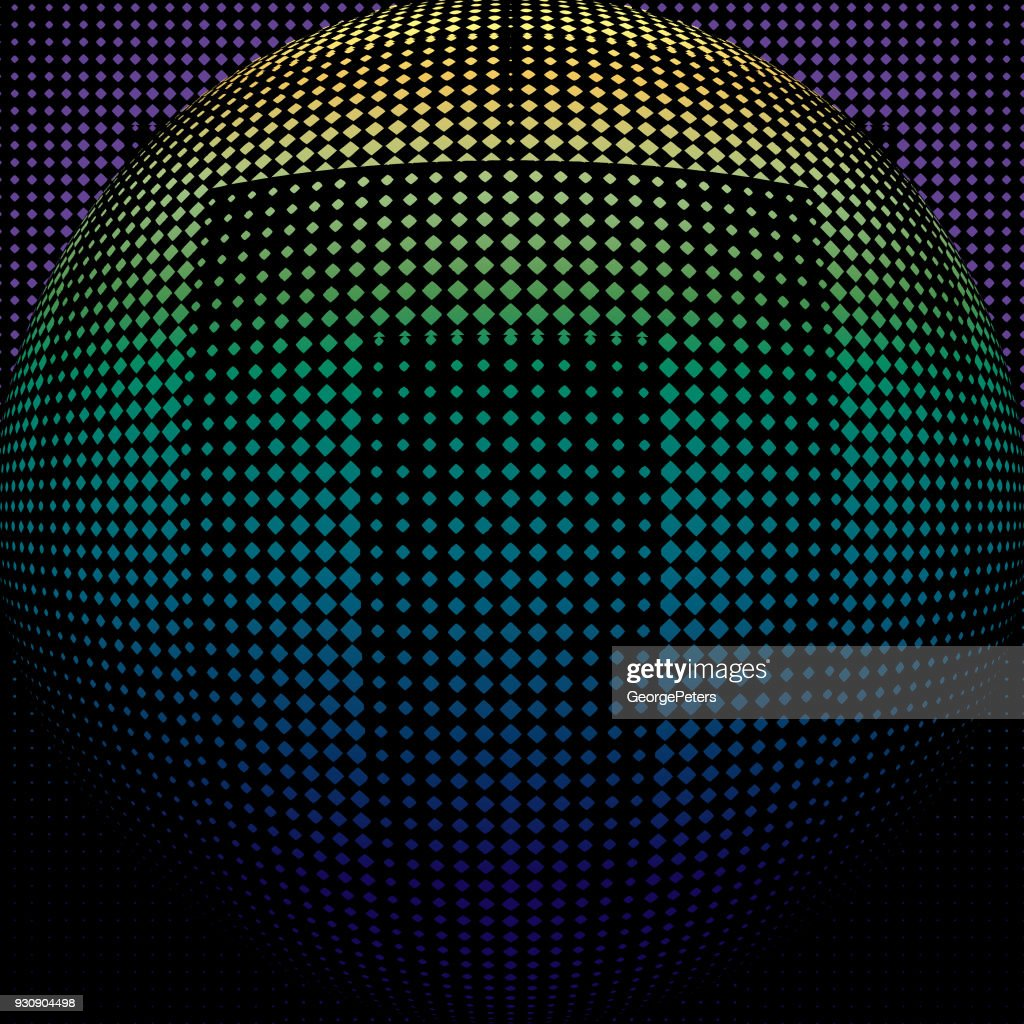 Futuristic halftone pattern that suggests cyberspace