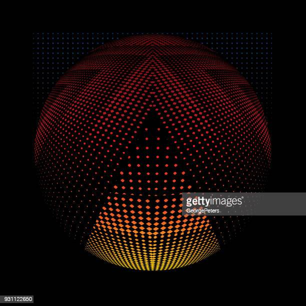 illustrazioni stock, clip art, cartoni animati e icone di tendenza di futuristic halftone pattern that suggests cyberspace - cambiare colore
