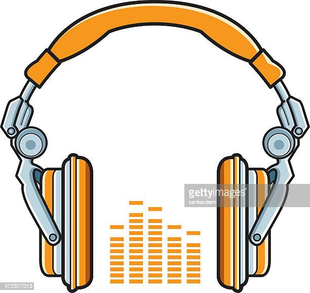 futuristic headphones - bass instrument stock illustrations, clip art, cartoons, & icons