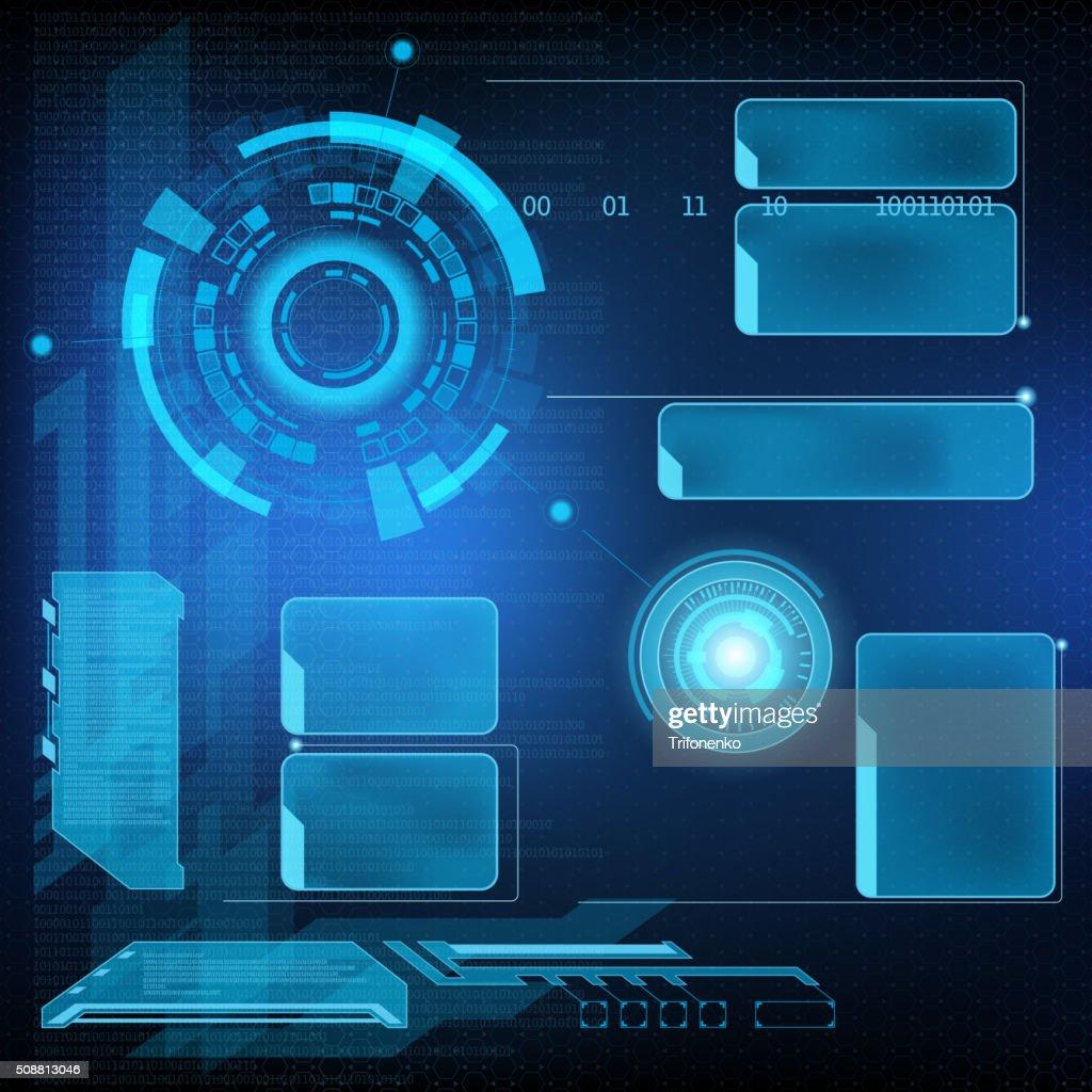 Futuristic interface HUD