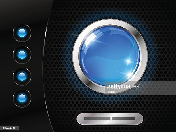 A futuristic interface with circles