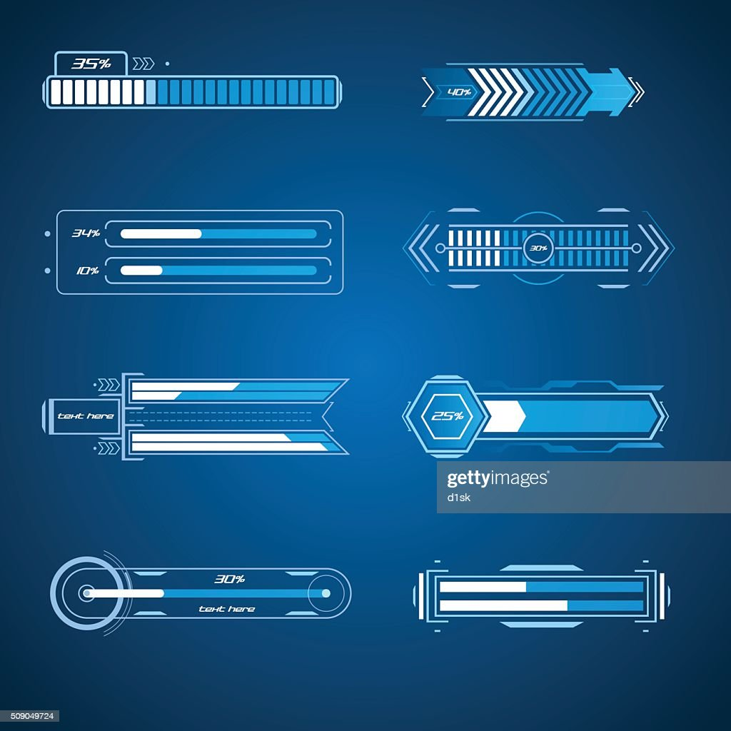 Futuristic loading elements