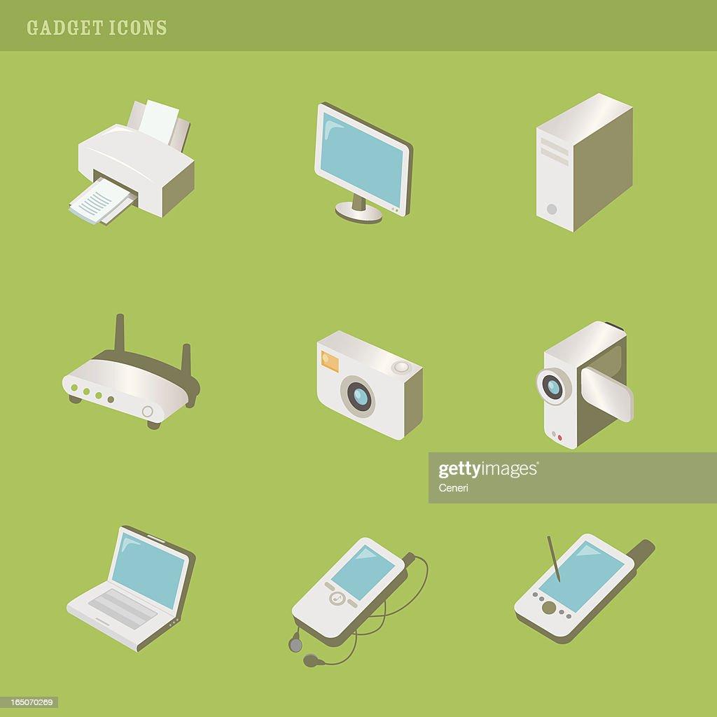 gadget icons : stock illustration