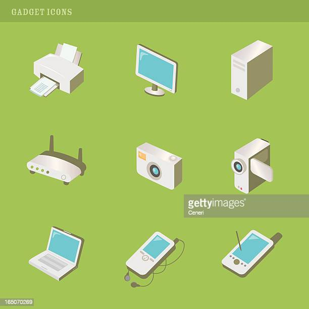 gadget icons - desk toy stock illustrations, clip art, cartoons, & icons