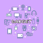 gadget minimal outline icons