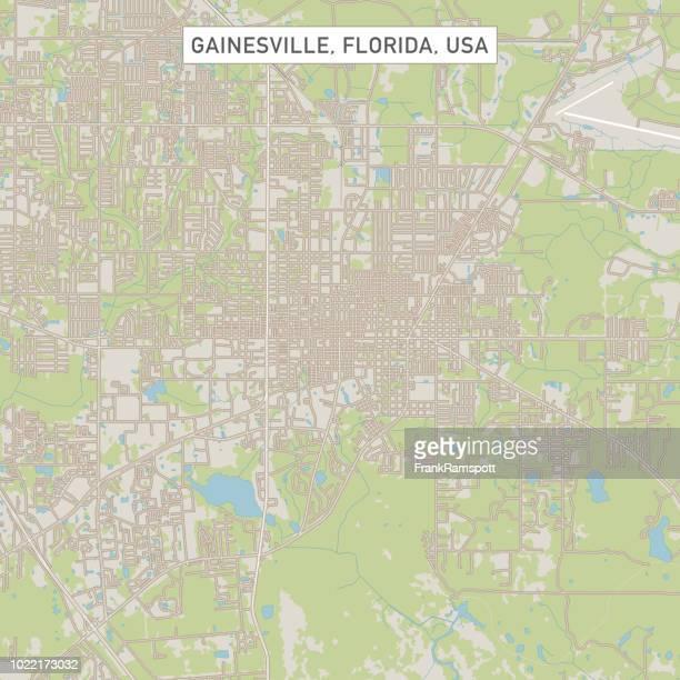 gainesville florida us city street map - gainesville florida stock illustrations