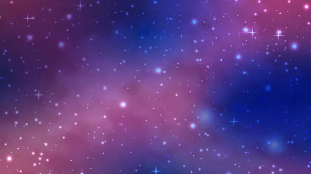 galaxy background - unicorn stock illustrations