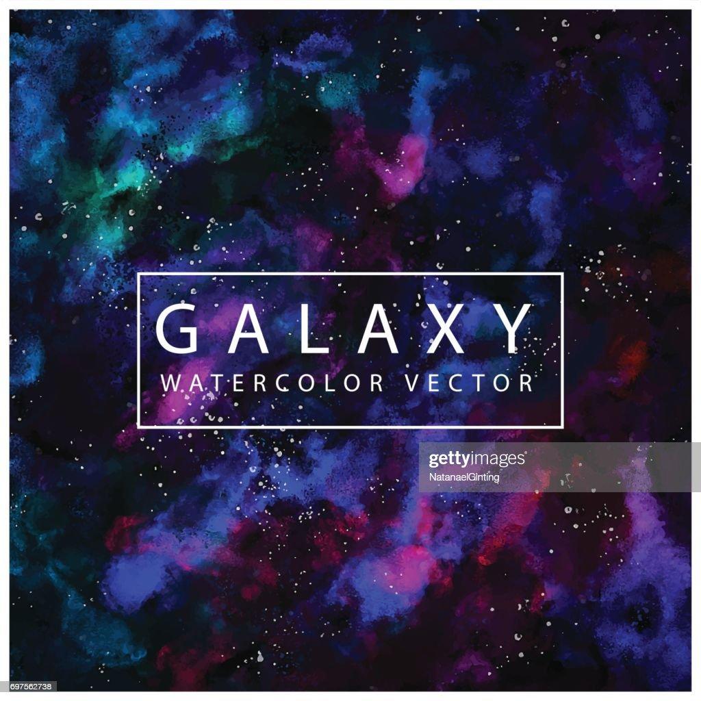 Galaxy Cosmic Watercolor Texture Vector