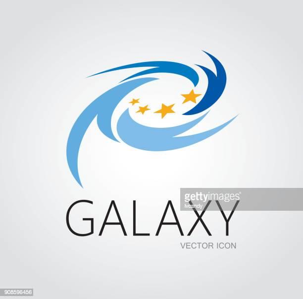 ilustrações, clipart, desenhos animados e ícones de concepção de símbolo galáxia - spire