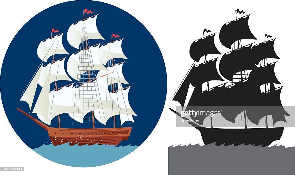Galleon : stock illustration
