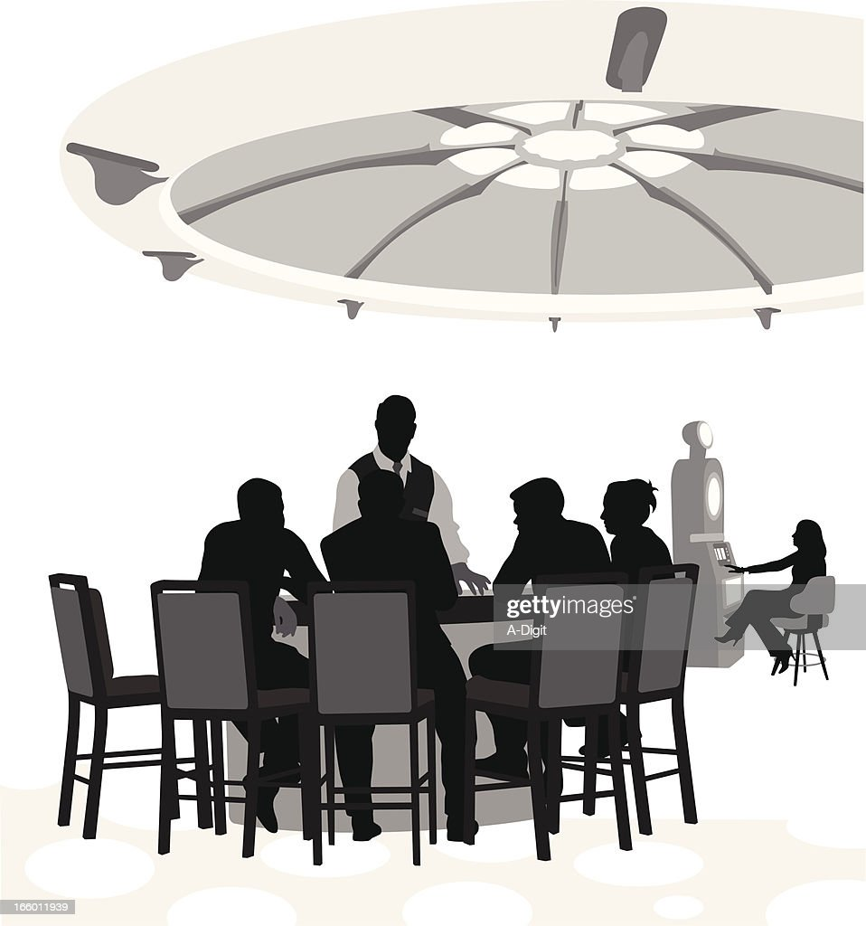 Gamblers : stock illustration