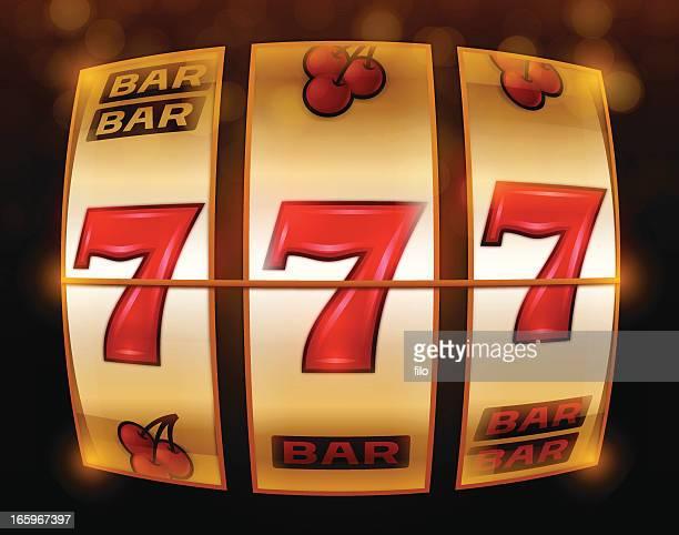 gambling 777 slot machine - slot machine stock illustrations, clip art, cartoons, & icons