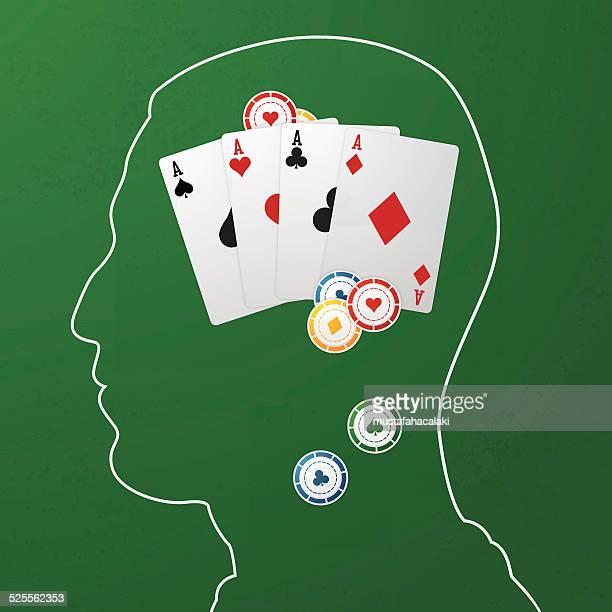 gambling addiciton - gambling addiction stock illustrations