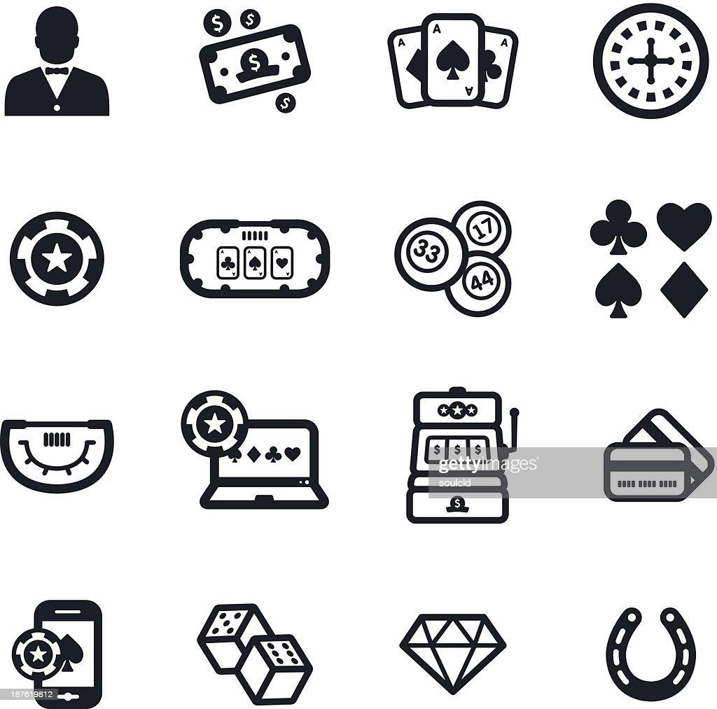 Gambling Icons : stock illustration