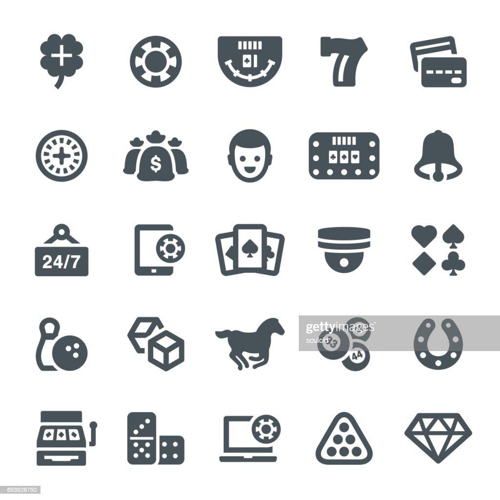 Iconos de juegos : Ilustración de stock