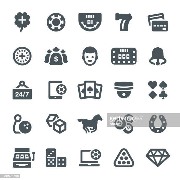 gambling icons - bingo stock illustrations