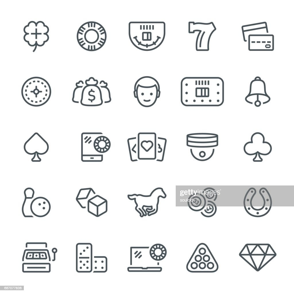 Gambling Icons : stock illustration