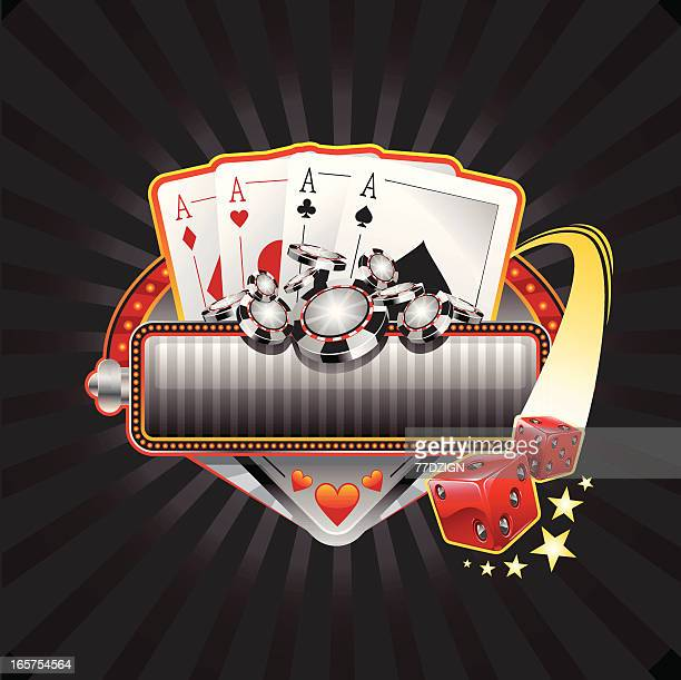 gambling pokker banner - ace stock illustrations, clip art, cartoons, & icons