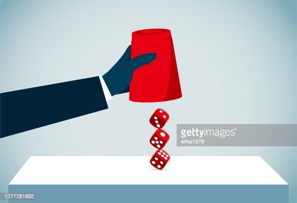illustrazioni stock, clip art, cartoni animati e icone di tendenza di gioco d'azzardo - chance
