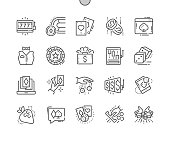 Gambling Well-crafted Pixel Perfect Vector Thin Line Icons 30 2x Grid for Web Graphics and Apps. Simple Minimal Pictogram