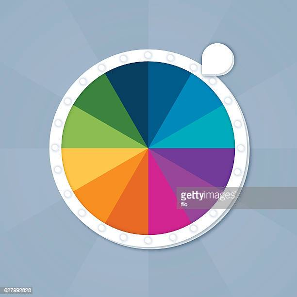 game board spinner - spinning stock illustrations