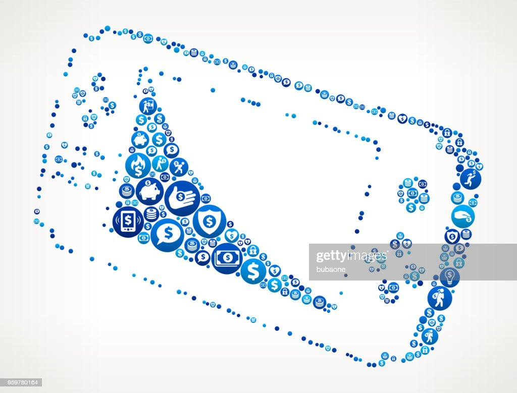 Game-Controller Geld blaues Symbol Muster Hintergrund : Stock-Illustration