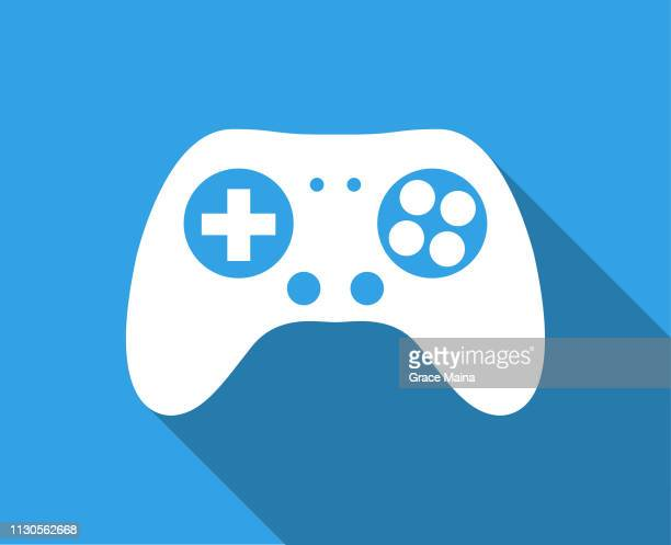 game controller with long shadow - control stock illustrations
