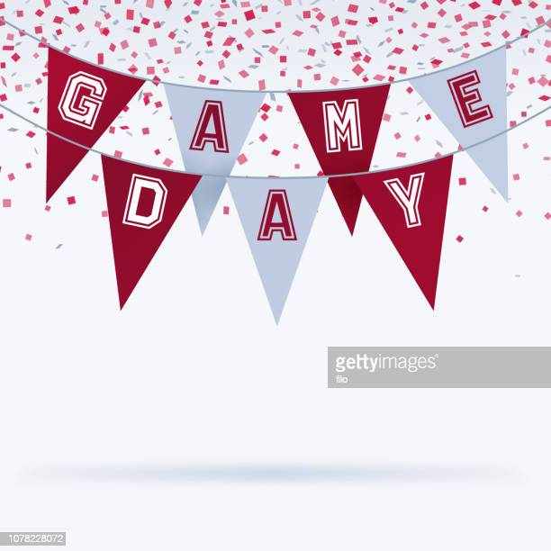 stockillustraties, clipart, cartoons en iconen met speelronde bunting sport viering achtergrond - sporting term
