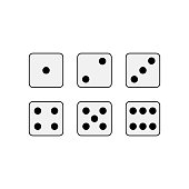 Game dice. Vector