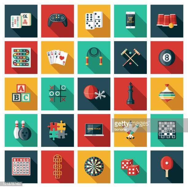 game icon set - pool ball stock illustrations
