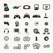 game icons set. illustration eps10