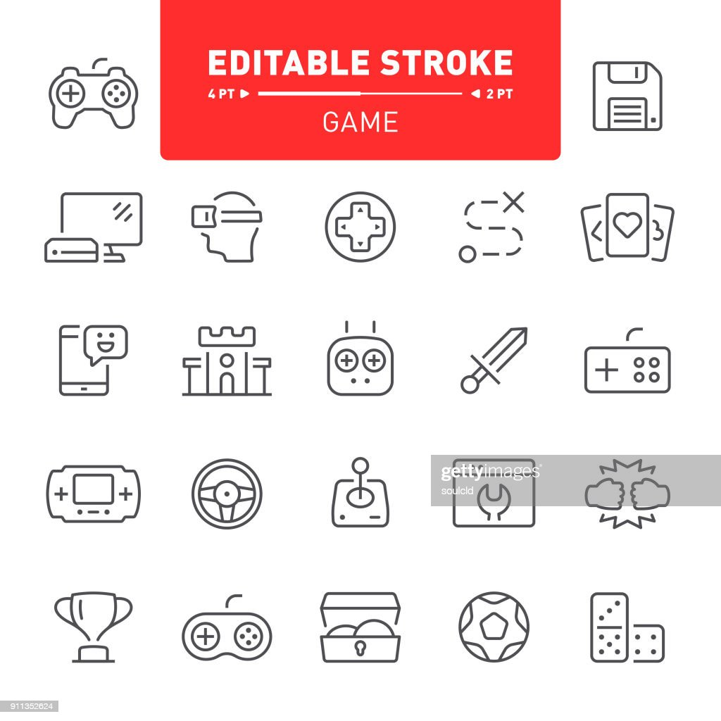 Game Icons : stock illustration