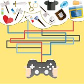 game items. vector illustration