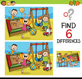 game of differences with kids