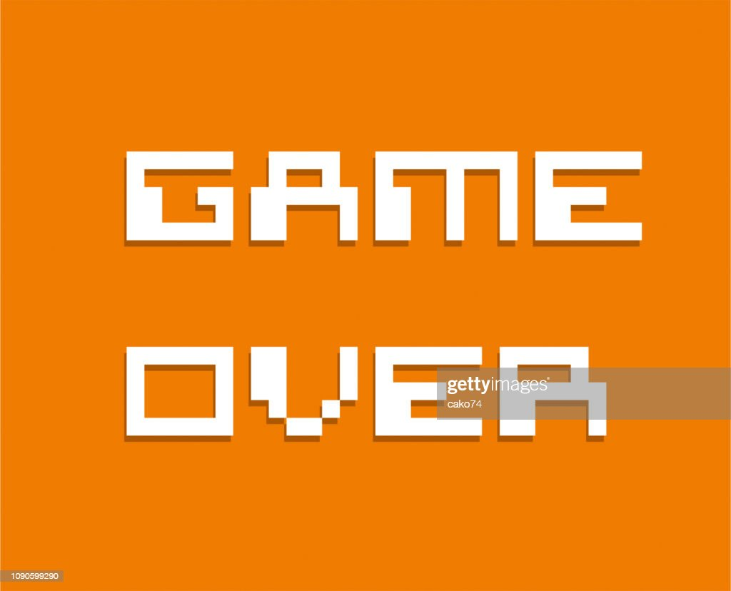 Game Over Pixel Style High Res Vector Graphic Getty Images