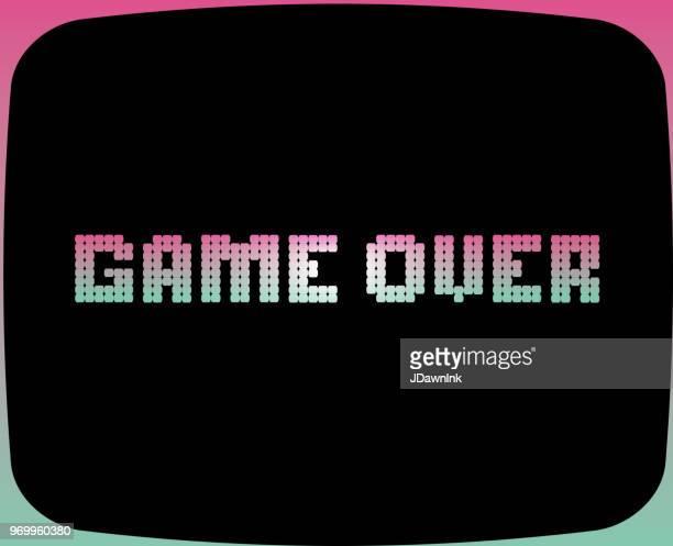 Game Over Retro arcade game screen