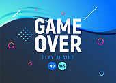 game over vector video game screen