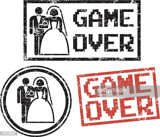 Game Over - Wedding rubber stamps
