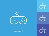 Game pad icon vector. Game pad symbol for your web site design, logo, app.