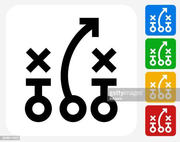 Game plan Icon Flat Graphic Design